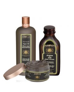 Buy Argan Oil  Black Mud Shampoo + Hair Mask Get Argan Oil Hair Serum Free